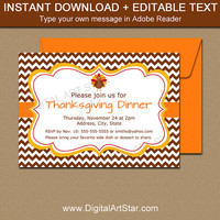 Thanksgiving Invitations - Thanksgiving Baby Shower Invites - Thanksgiving Dinner Invitation - Thanksgiving Birthday Template Printable T4