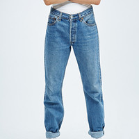Urban Renewal Vintage Customised Mid Wash Levi's 501 Jeans - Urban Outfitters