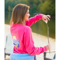 Southern Shirt Escape the Ordinary Long Sleeve Tee- Rapture Rose