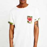 Worland Aloha Pocket Tee in Ecru - Urban Outfitters