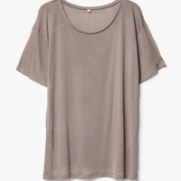 Base Range / Loose Tee in Taupe