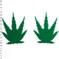 Green Pot Leaf Pastease® Pasties Green Pot Leaf Pastease® Pasties A-DD Green