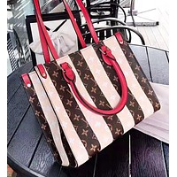 Louis Vuitton LV New Fashion Monogram Print Leather Shopping Leisure Shoulder Bag Women Handbag