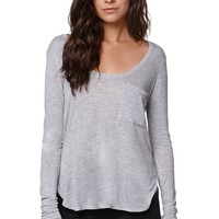 Nollie Side Wrap Scoop Neck T-Shirt - Womens Tees