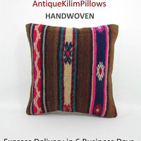 kilim pillow cover decorative pillow boho chic home decor chair boho cushion cover throw pillow aztec pillow cover tribal pillow case 000338