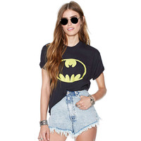 Black Batman Logo Printed Shirt