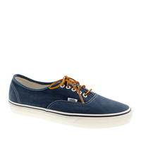 Unisex Vans For J.Crew Washed Canvas Authentic Sneakers