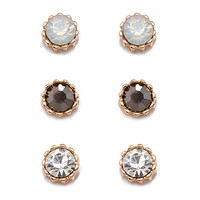 Mixed Rhinestone Stud Set