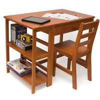 Child Desk And Chair Pecan