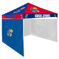 Kansas Jayhawks NCAA 9' x 9' Checkerboard Color Pop-Up Tailgate Canopy Tent With Side Wall