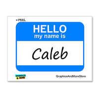 Caleb Hello My Name Is Sticker
