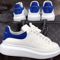 Alexander McQueen classic stitching color men's and women's platform casual shoes 1