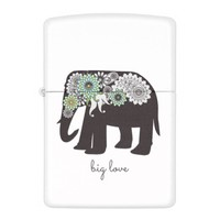 Paisley Elephant Design Girly Chic Zippo Lighter