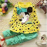 Girls Micky mouse Dress and Pants