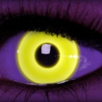 Rave Yellow - Cool Contacts - Halloween Contacts by ExtremeSFX