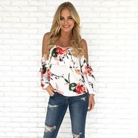 One More Kiss Floral Top