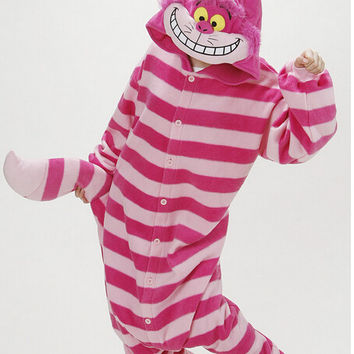 Winter New Sleepsuit Adults Cartoon Cheshire Cat Onesuits Uni Onesuits Pajamas Cosplay Costumes Alternative Measures