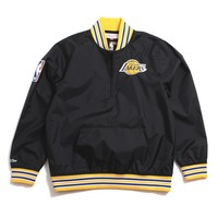 Los Angeles Lakers 1/4 Zip Nylon Pullover Jacket Black