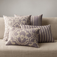 Baroque Medallion Pillow Collection - Amethyst
