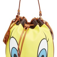 Moschino 'Looney Tunes - Tweety & Sylvester' Bucket Bag - Brown