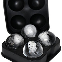 """FROST BALLZ - #1 Whiskey Ice Ball Mold - Makes 4 Ice Cube Spheres in 1 Tray - Unique Round Ice Maker for Scotch, Bourbon, Whisky, Cocktails, Mixed Drinks and Sipping on the Rocks - Balls are 1.77"""""""