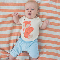Bright Eyed and Bushy Tailed Organic Baby One Piece