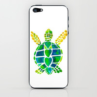 Turtle Love iPhone & iPod Skin by Catherine Holcombe