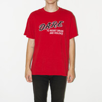 """Vintage Red """"D.A.R.E"""" Tee"""