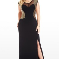 Plus Size It Girl Glitter Maxi Dress | Fashion To Figure