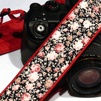 Flowers Camera Strap. dSLR Camera Strap. Nikon Camera Strap. Canon Camera Strap. Women Accessories.