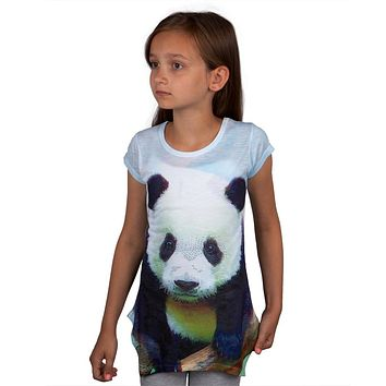 Panda Portrait Kids Tunic Shirt
