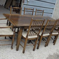 Canonbury - English Oak Rustic Refectory Table Kitchen Diner Tables