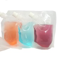 Plastic Flasks- Clear, 3x 8oz Flasks with Funnel
