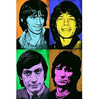 THE ROLLING STONES Celebrity Band Wild POP ART POSTER Multiple Images 24X36