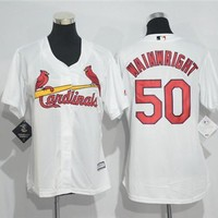 Women's St. Louis Cardinals #50 Adam Wainwright Majestic Cool Base Jersey