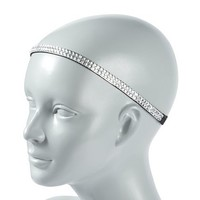 Crystal Gem Double Row Stretch Headwrap – Claire's