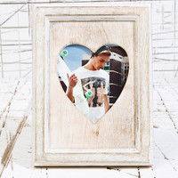 Rustic Heart Frame - Urban Outfitters