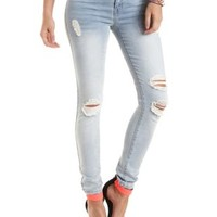 "Refuge ""Skin Tight Legging"" Destroyed Skinny Jeans"