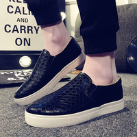 Mens Checkered Slip-On Canvas Style Shoes