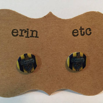 Handmade Plastic Fandom Earrings - House Ravenclaw