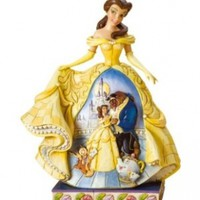 Disney Traditions by Jim Shore 4010021 Belle Midnight Enchantment Figurine 9-1/4-Inch