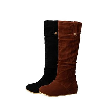 Woman's Suede Tall Boots Shoes