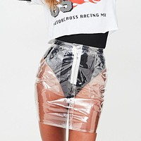 Nothing to Hide Transparent Skirt