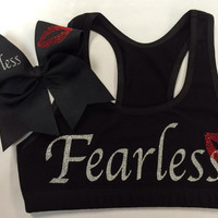 Fearless Sports Bra with Matching Bow