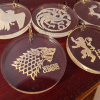 Game of Thrones Keyring Keychain by TheHoneycombAdam on Etsy