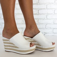 Ophelia Wedges in White