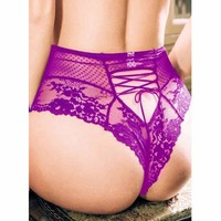 Plus Size Womens Lace G-string Briefs Thongs Lingerie Underwear Knickers Panties