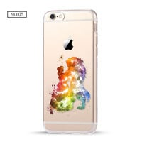 Beauty and The Beast Clear Soft Disney Phone Case For iPhone 7 7Plus 6 6s Plus 5 5s SE C