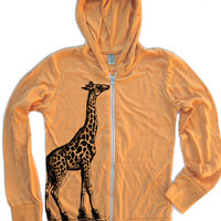 Unisex GIRAFFE in High Tops Eco Hoody - Alternative apparel - all sizes xs s m l xl (in 3 Colors)