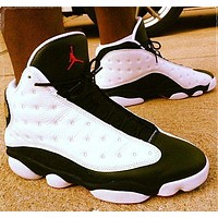 Air Jordan 13 AJ13 Men Women Fashion Sport Running Basketball Shoes Sneakers White&Black